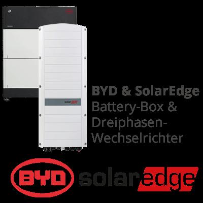 Speicherpaket BYD B-Box und SolarEdge