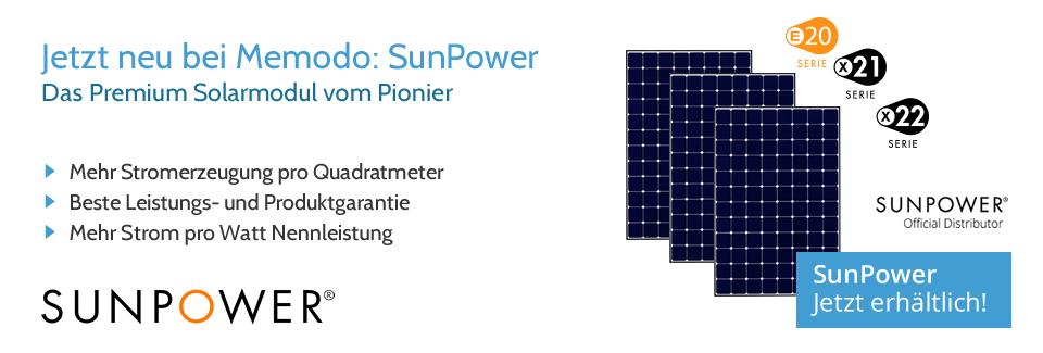 Memodo SunPower Banner