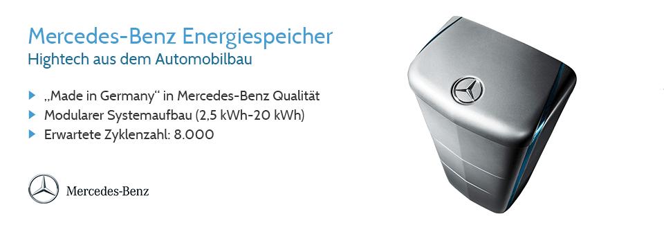 Vom bekannten Automobilhersteller Mercedes-Benz gibt es jetzt auch Energiespeicher