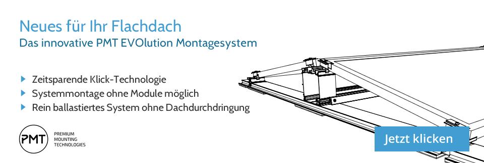 Hier sehen Sie die Flachdach-Unterkonstruktuin PMT Evolution