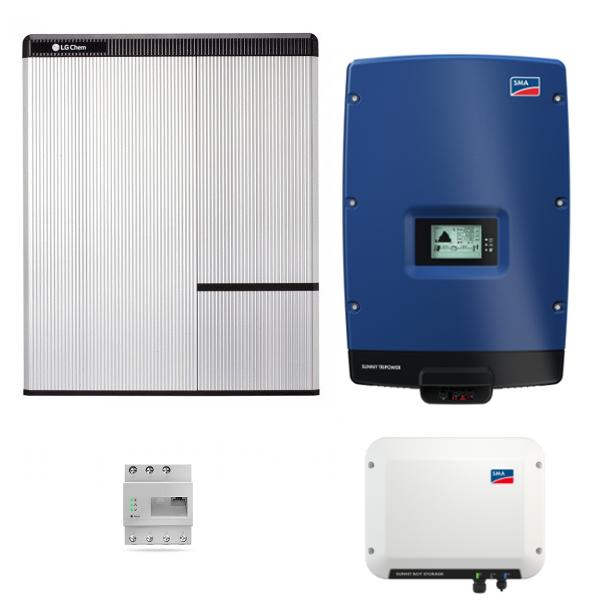 LG Resu 10H & SMA SB Storage 2.5 & STP 7000