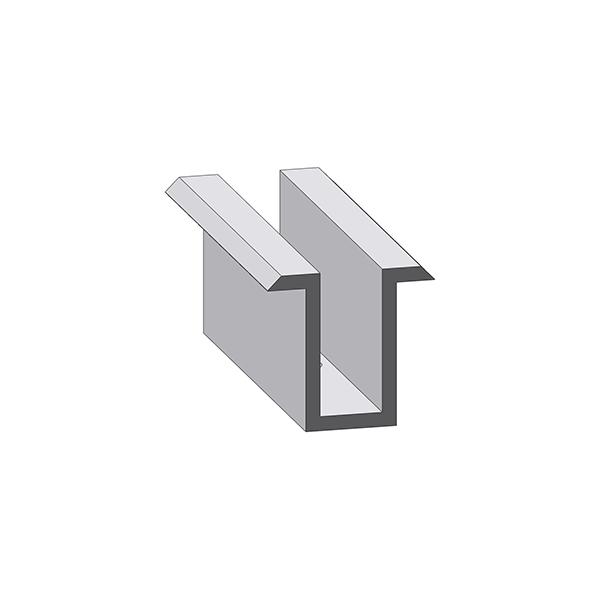 Alumero Mittelklemme, Länge 80 mm